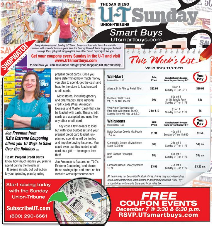 Union Tribune Couponing