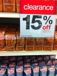 Target Dunkin Donuts coffee