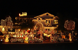 Vegas Extreme Christmas Lights Decorations Map Tip Resource
