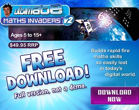free math invaders