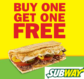 subway buy one get one