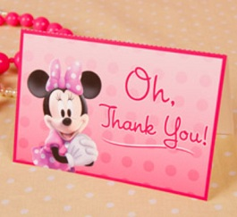 minnie thank you cards