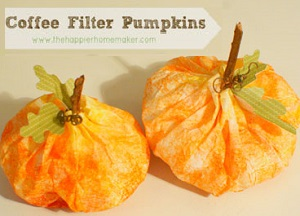 coffee filter pumpkin