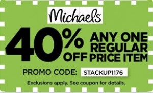 michaels 40% coupons