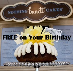 Nothing Bundt Cakes Free On Your Birthday