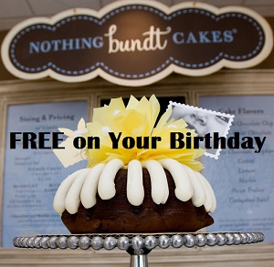 photograph relating to Nothing Bundt Cakes Coupons Printable known as Absolutely free Absolutely nothing Bundt Cakes Upon Your Birthday Package Suggestion Tool